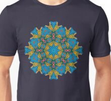Psychedelic jungle kaleidoscope ornament 25 Unisex T-Shirt