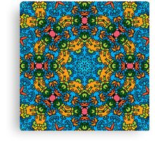 Psychedelic jungle kaleidoscope ornament 25 Canvas Print