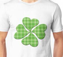 Plaid Shamrock Unisex T-Shirt