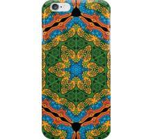 Psychedelic jungle kaleidoscope ornament 26 iPhone Case/Skin