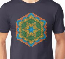 Psychedelic jungle kaleidoscope ornament 26 Unisex T-Shirt