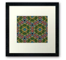 Psychedelic jungle kaleidoscope ornament 26 Framed Print