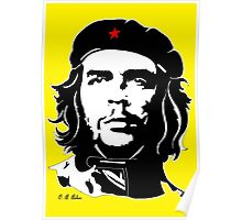 Che Guevara yellow background Poster