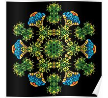 Psychedelic jungle kaleidoscope ornament 27 Poster