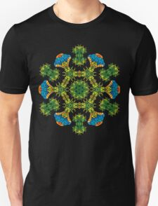 Psychedelic jungle kaleidoscope ornament 27 T-Shirt