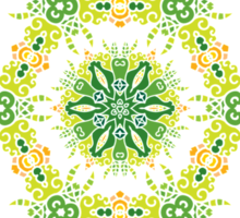 Psychedelic jungle kaleidoscope ornament 27 Sticker