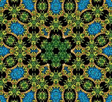 Psychedelic jungle kaleidoscope ornament 28 by Andrei Verner