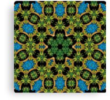 Psychedelic jungle kaleidoscope ornament 28 Canvas Print