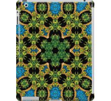 Psychedelic jungle kaleidoscope ornament 28 iPad Case/Skin