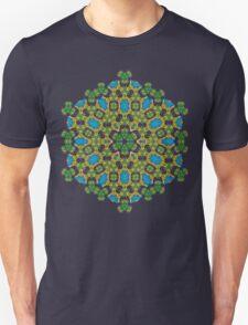 Psychedelic jungle kaleidoscope ornament 28 T-Shirt