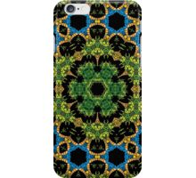Psychedelic jungle kaleidoscope ornament 29 iPhone Case/Skin