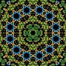Psychedelic jungle kaleidoscope ornament 29 by Andrei Verner