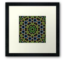 Psychedelic jungle kaleidoscope ornament 29 Framed Print