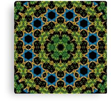Psychedelic jungle kaleidoscope ornament 29 Canvas Print
