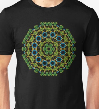 Psychedelic jungle kaleidoscope ornament 29 Unisex T-Shirt