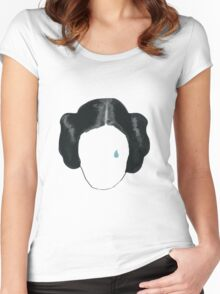 princess leia tribute  Women's Fitted Scoop T-Shirt