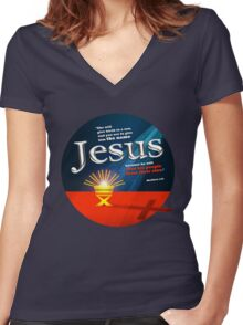 Nativity Women's Fitted V-Neck T-Shirt