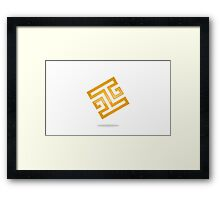 abstract-square-alphabet-H-logo Framed Print