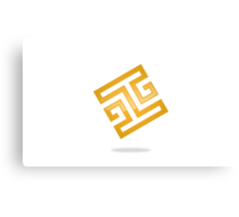 abstract-square-alphabet-H-logo Canvas Print