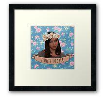 April Ludgate - I Hate People Framed Print