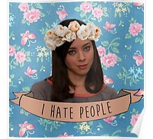 April Ludgate - I Hate People Poster