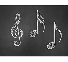 Music notes on blackboard Photographic Print