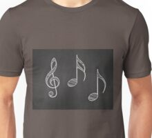Music notes on blackboard Unisex T-Shirt