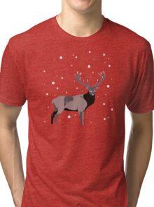 Snow Deer Tri-blend T-Shirt