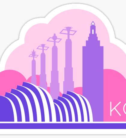 Kansas City in the Clouds - Pink and Purple Sticker