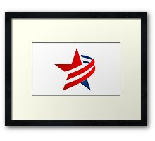 american-star-icon-and-logo Framed Print
