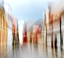 Artscape..........A small Village with half-timbered Houses by Imi Koetz