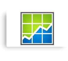 chart-line-in-the-box-logo Canvas Print