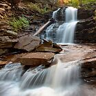 First October Morning Light On Shawnee Falls by Gene Walls