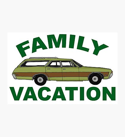 Retro Family Vacation Photographic Print