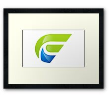abstract-E-alphabet-logo Framed Print