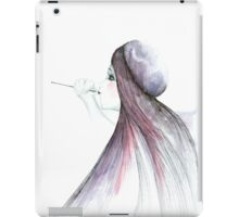 Girl On French Hat iPad Case/Skin