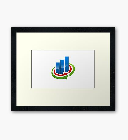 business-chart-grow-logo Framed Print