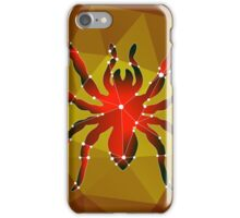 Dangerous spider tarantula made in the polygonal style on an orange background iPhone Case/Skin