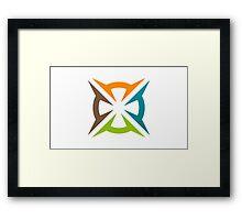 abstract-decoration-logo Framed Print