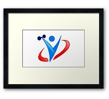 active-fitness-logo Framed Print