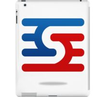 abstract-blue-and-red--logo iPad Case/Skin
