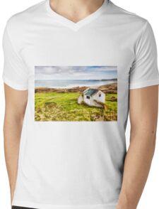 White Park Bay Cottage Mens V-Neck T-Shirt