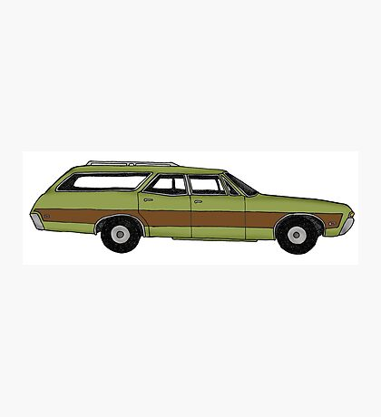 Retro Station wagon Photographic Print