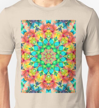 kaleidoscope Diamond Flower  Unisex T-Shirt