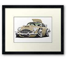 James Bond Aston Martin DB5 caricature Framed Print