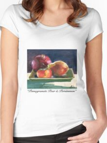 Pomegranate Pear & Persimmon Women's Fitted Scoop T-Shirt