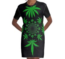 Reefer Marijuana Cannabis Weed Graphic T-Shirt Dress