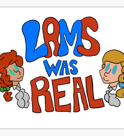 Historic Lams-Was Real Sticker