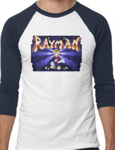 Rayman (Jaguar Title Screen) Men's Baseball ¾ T-Shirt