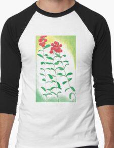 Lingonberries vector Men's Baseball ¾ T-Shirt